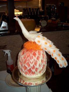 Beautiful fruit sculpture!