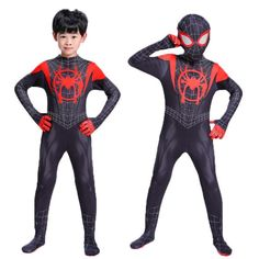 New 2019 Kids Spider-Man Into the Spider-Verse Miles Morales Cosplay Costume Zentai Spiderman Pattern Bodysuit Suit Jumpsuits Boys Spiderman Costume, Superhero Costumes Kids, Spiderman Kids, Black Spiderman, Fancy Suit, Zentai Suit, Super Hero Costumes, Spider Verse, Cosplay Costumes