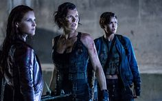Resident Evil The Final Chapter, 2016, actress, Milla Jovovich, Ali Larter, Ruby Rose, 5k