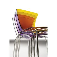 Glossy stackable chair by Infiniti Design