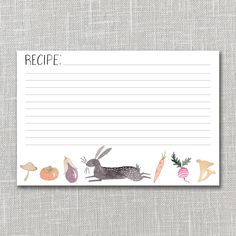Rabbit's Lunch Recipe Card Set by Julianna Swaney