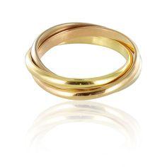 Bague anneau 3 ors - style Hepburn.  http://www.bijouxbaume.com/bague-anneaux-3-ors-a1497.html