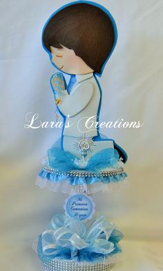 Items similar to Christening Centerpiece, First Communion Centerpiece. on Etsy Christening Centerpieces, Communion Centerpieces, Baptism Banner, Baptism Party, 60th Birthday Party, Sons Birthday, First Holy Communion, Diy Party, Party Ideas