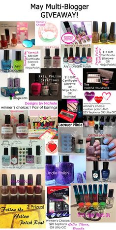My Nail Polish Is Poppin: May Multiblogger Giveaway!