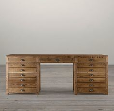 PRINTMAKER'S DESK  $1295 - $1495    Flat-file storage, popular among printers, architects and artists, has been reconfigured into a desk destined for home-office efficiency.