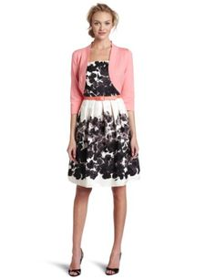 Jessica Howard Women's Springtime In The Garden Belted Dress $108.00