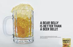 Haribo Gold Bears: Bear over Beer by H.Sally Lee, via Behance. Not sure who the target audience is -- but, I like the concept!