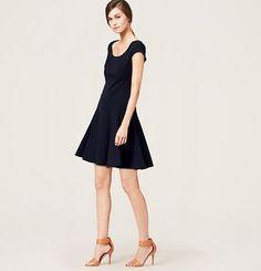Seamed Skirt Dress
