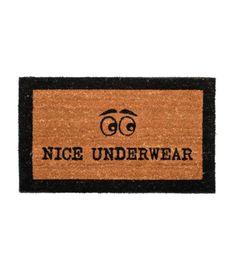 Paillasson en Coco Naturel et Noir - Nice Underwear