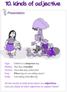 Grade 4 Grammar Lesson 10 Kinds of adjectives