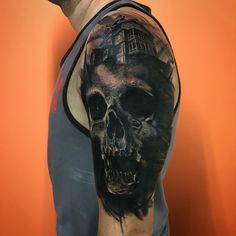tribal band and wrapped lettering cover-up. Outside of my arm is complete and underarm is next. Skull Tattoos, Body Art Tattoos, Hand Tattoos, Cool Tattoos, Cover Up Tattoos For Men Arm, Tattoos For Guys, Cover Tattoo, I Tattoo, Tribal Cover Up