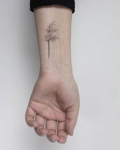 Best Stick And Poke Tattoo Ideas - Hand poked windy tree tattoo by Lara M. Informations About Best Stick And Poke Tattoo Ideas Pin Yo - Delicate Tattoo, Subtle Tattoos, Small Tattoos, Cool Tattoos, Cool Simple Tattoos, Tatoos, Tiny Tree Tattoo, Simple Tree Tattoo, Blossom Tree Tattoo