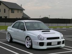 white on white bugeye wrx
