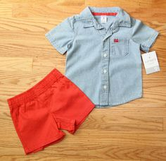 Carters Just One You Baby Boys 3pc All American Boy Set Red//Blue Multi