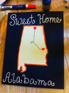 sweet home alabama dorm craft Huntsville to Auburn! I love it!