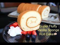 How to Make Super Soft Vanilla Sponge Roll Cake | 超軟蛋糕卷(燙麵法) - YouTube