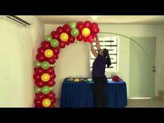YouTube Balloon Columns, Balloon Arch, Balloons, Balloon Crafts, Balloon Flowers, Ideas Para Fiestas, Decoration, Bouquet, Crafty