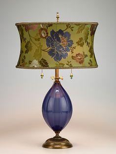 Iris: Caryn Kinzig, Susan Kinzig: Mixed-Media Table Lamp | Artful Home