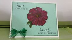 Here is a 10 minute quick card to make using D1561 Wavy Booms Stamp set.