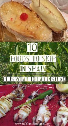 Spain Foods to Skip: