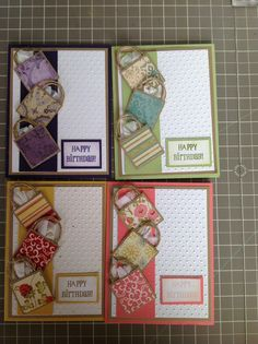 It's in the bag Cards - so easy, so cute. Good stash for birthday cards