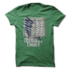 """<strong><span style=""""color: #008000;"""">Scouting Legion</span>Attack On Titan T-Shirt</strong> <h6><strong><span style=""""color: #ff0000;"""">ACT AS A FREEMAN DUDE,</span> </strong></h6> <span style=""""color: #000000;"""">However it's not easy to be,</span><span style=""""color: #0000ff;""""> but It Make ourlive worth</span><strong><span style=""""color: #0000ff;"""">Men</span> &<span style=""""color: #800080;""""> Ladies</span> Tees Available</strong>Available Size : 