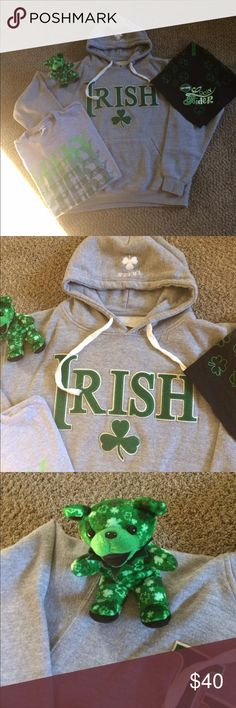 ☘☘Bundle Of Irish☘☘ ☘☘☘Bundle Of Irish Includes Sweatshirt Hoodie Size XL Logo On Front Abd Small Logo On Top Of Hoodie Abd Lady Rider Bandana With Harley Logo On It And Lucky TShirt Size L And Grateful Dead Irish Teddy Bear All In EXCELLENT CONDITION ☘☘☘ Tops Sweatshirts & Hoodies