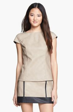 kensie Faux Leather Top available at #Nordstrom 89