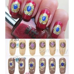 USD $3.59 3D Nail Art Sticker Luxury Gem Embossed Texture Decal - BornPrettyStore.com