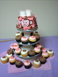Monkey baby shower cake...