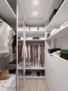 Фото гардеробная из проекта «Дизайн квартиры в ЖК «Три ветра», неоклассика, 88 кв.м.» Dressing Room, Cupboard, Interior Design, Bedroom, House, Closets, Organizing, Home Decor, Interiors