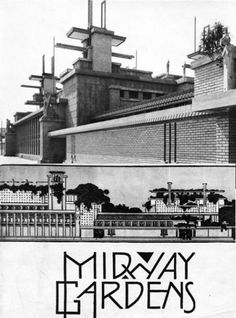 Frank Lloyd Wright's Midway Gardens, Chicago, USA