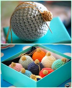 DIY Crochet Christmas Bauble Ornament Free Pattern - Crochet Christmas Ornament Free Patterns