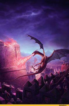 Dragon Art by Jeff Johnson Mythological Creatures, Fantasy Creatures, Mythical Creatures, Dragons 3, Dungeons And Dragons, Fantasy World, Fantasy Art, Big Dragon, Legendary Dragons