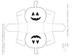 3D Paper House Print Out | Free Jack O'Lantern Favor Box Template