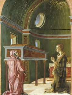 Saint Lucy and Saint Eutychia at the Shrine of Saint Agatha Michelangelo, Historian, American Art, Venice, Saints, September, School, House, Painting