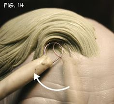Sculpting Tutorials: Casteline Hair Sculpting Tutorial by Andy Bergholtz