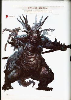 Dark Souls Asylum demon or Stray demon Creature Feature, Creature Design, Soul Saga, Soul Asylum, Dark Souls Art, Evil Demons, Monster Design, Bear Art, Bloodborne