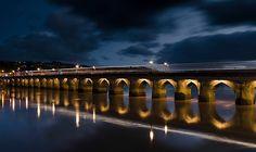 Bideford bridge (the old bridge) across the River Torridge in North Devon, England - by Richard Taylor c/o facebook.