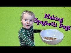Making Spaghetti Dogs! Wesley Cooks - Fun and Easy to Make! Kids in the Kitchen - YouTube