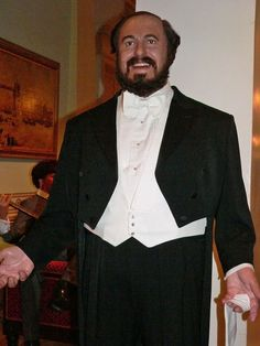 Luciano Pavarotti at Madam Tussaud in London