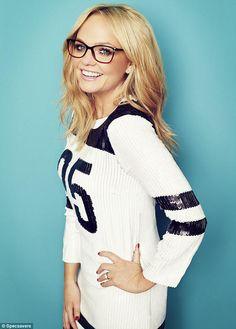 Emma Bunton's photoshoot for Specsavers magazine