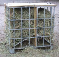 homemade hay feeder - Google Search