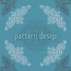 Just Lace Teal Seamless Pattern Vector Pattern, Pattern Design, Romantic Lace, Lace Design, Surface Design, Teal, Tapestry, Patterns, Artwork