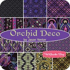<3 Fabric [Orchid Deco Fat Quarter Bundle  Jason Yenter for In the Beginning Fabrics ($41.99 per Bundle)]