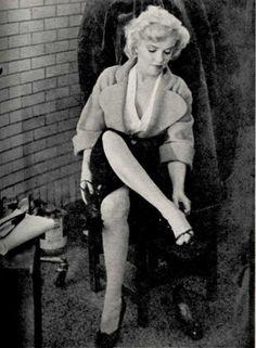 "Marilyn on the set of ""Niagara"", 1952"