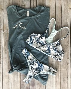 """33df7c26fe652 Lsea Swimwear on Instagram  """"Our new Catch that Wave Tank Paired with  Indigo Palms"""