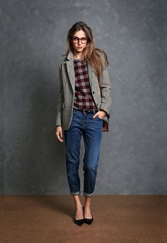 Gingham & tweed - boyfriend style // Jack Wills
