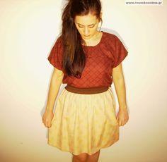 Φούστα ρετρό μπεζ με λουλουδάκια Skater Skirt, Internet, Skirts, Vintage, Style, Fashion, Swag, Moda, Skirt