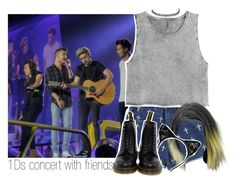 """""""1Ds concert with friends."""" by mela-horlik ❤ liked on Polyvore featuring moda, H&M, Dr. Martens i Charlotte Russe"""